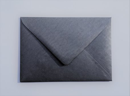 Envelop 11 x 15,6 cm Metallic Marmer Antraciet