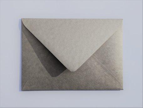 Envelop 11 x 15,6 cm Metallic Marmer Witgoud
