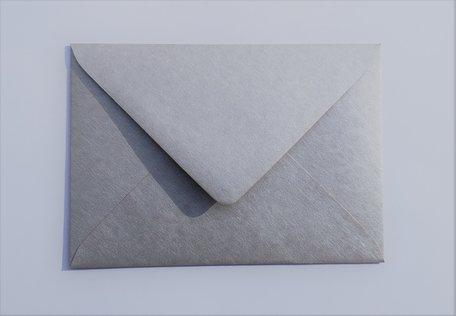 Envelop 11 x 15,6 cm Metallic Marmer Zilver