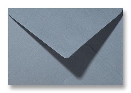 Envelop 11 x 15,6 cm Structuur Grijsblauw