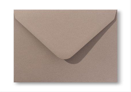 Envelop 12,5 x 17,6 cm Zandbruin