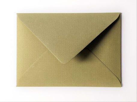 Envelop 11 x 15,6 cm Mosgroen Structuur