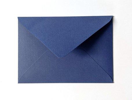 Envelop 11 x 15,6 cm Bosbesblauw Structuur