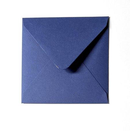 Envelop 14 x 14 cm Bosbesblauw Structuur