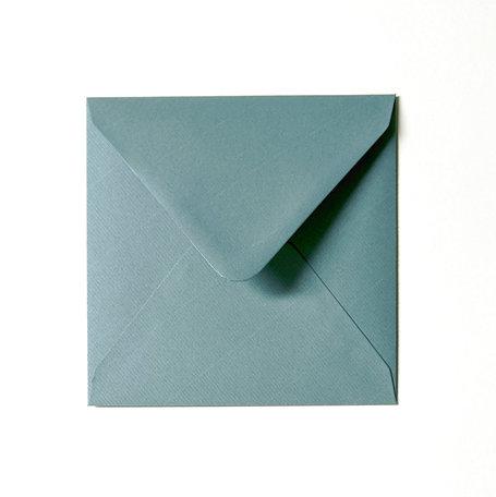Envelop 14 x 14 cm Kraft zeegroen