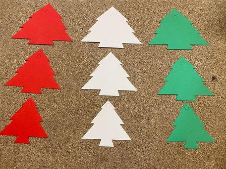 Kerst Cadeau labels Mix 90 stuks