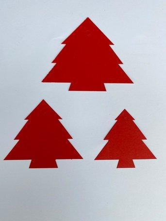 Kerst Cadeau labels Rood 90 stuks