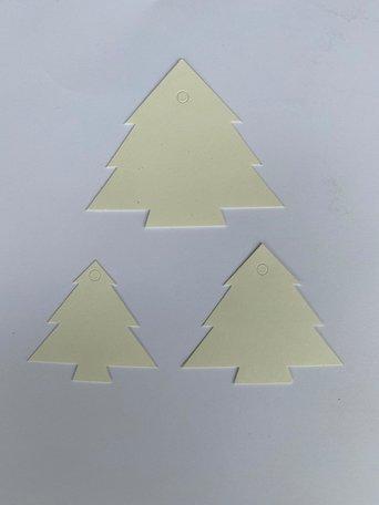 Kerst Cadeau labels Wit 90 stuks