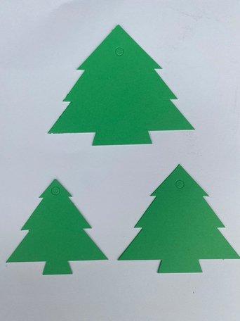 Kerst Cadeau labels Groen 90 stuks