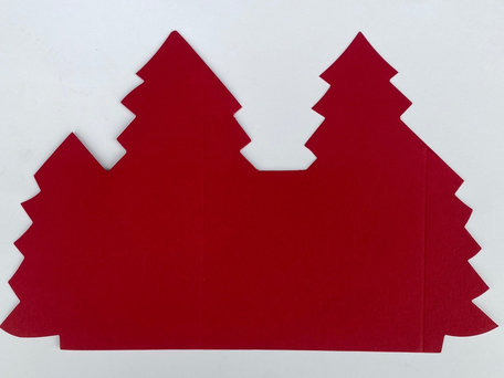 Kerstboomkaart - Rood 50 stuks
