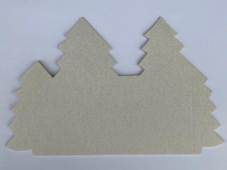 Kerstboomkaart - Sneeuw grijs  50 stuks