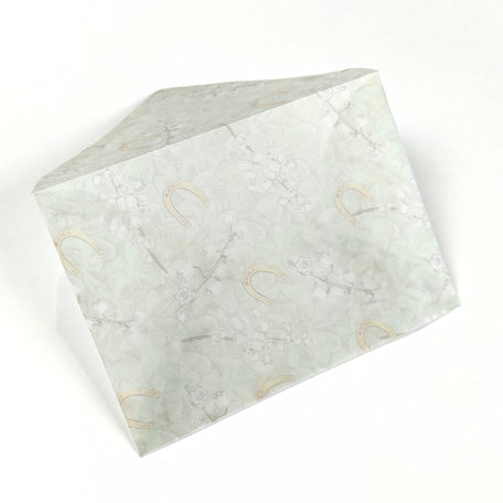 Transparante envelop met patroon 8 x 11,4 cm