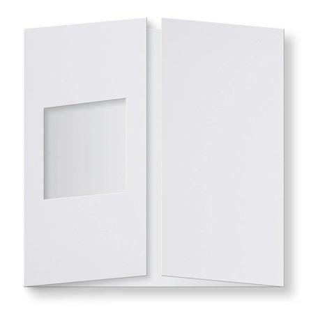 Passepartout Kaart 13,4 x 13,4 cm vierkant Wit