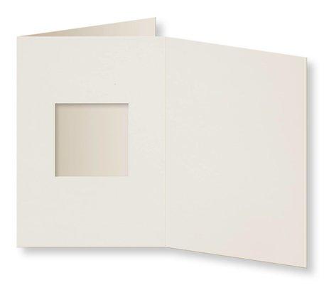 Passepartout Kaart 10,5 x 14,9 cm vierkant Ivoor