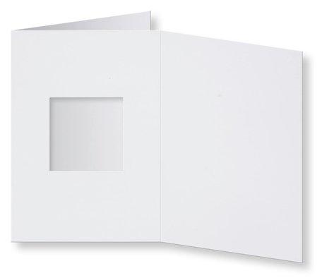 Passepartout Kaart 10,5 x 14,9 cm vierkant Wit
