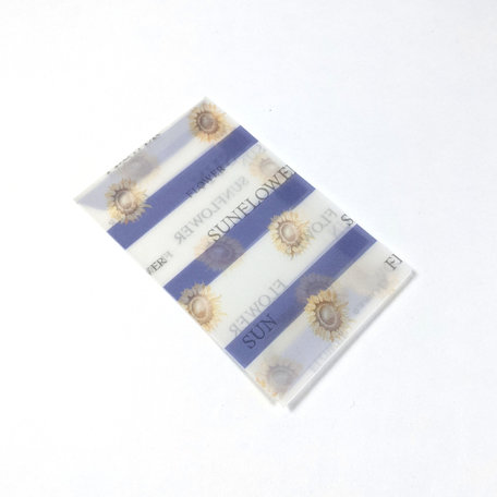 Transparante envelop met patroon 6,5 x 10,5 cm