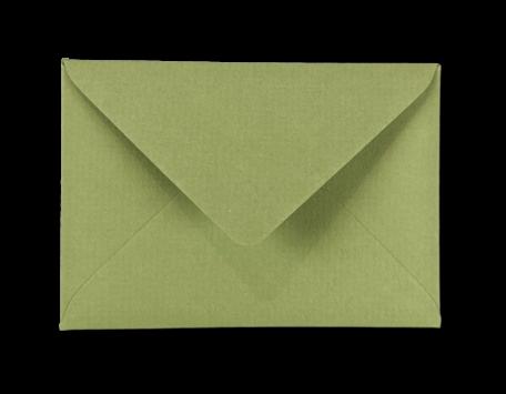 Envelop 11 x 15,6 cm Olijfgroen Structuur
