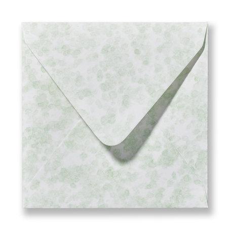 Envelop 12,5 x 14 cm Marmer Groen