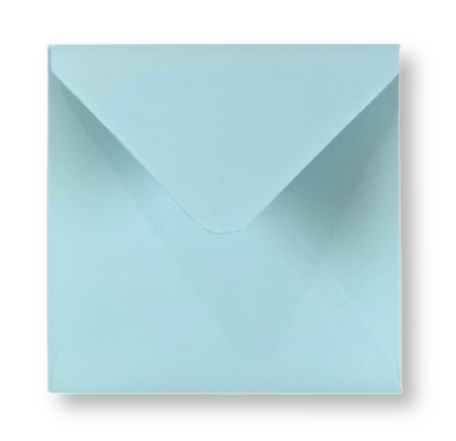 Envelop 14 x 14 cm Hemelsblauw