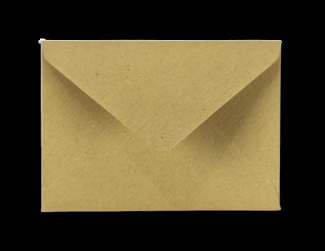 Envelop 8 x 11,4 cm Kraft Bruin