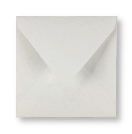 Envelop 14 x 14 cm Marmer Wit