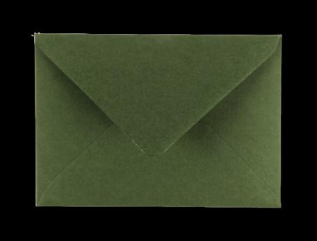 Envelop 11 x 15,6 cm Varengroen Structuur