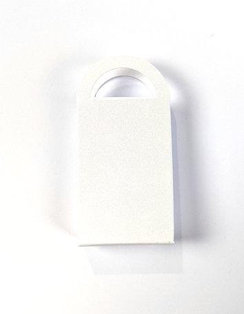 Geschenktasje Metallic White per 8 stuks