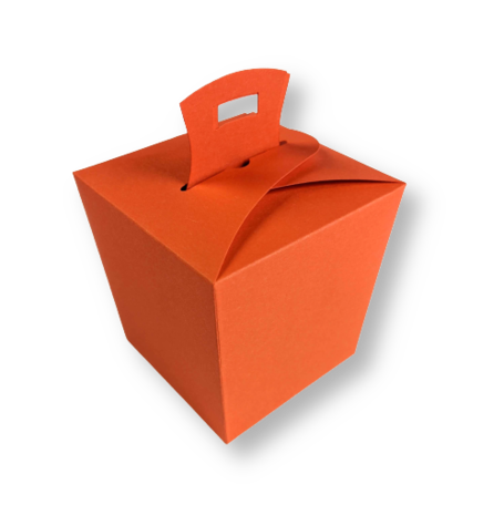 Wok box Donkeroranje per 3 stuks