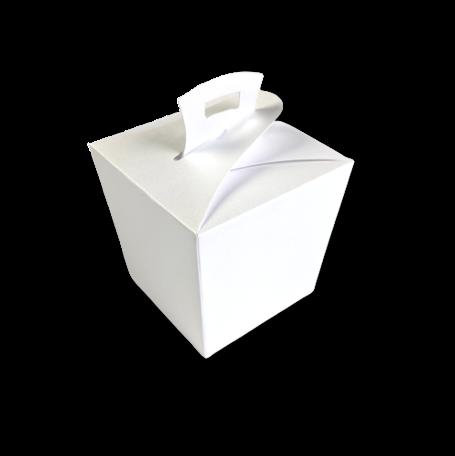 Wok box Metallic White per 3 stuks