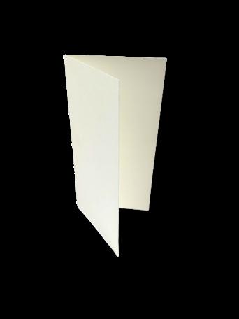 Dubbele kaart staand Creme 10,5 x 21 cm