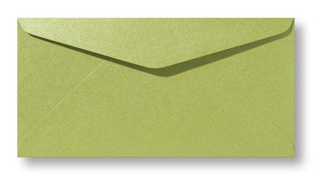 Envelop 11 x 22 cm Metallic Olive