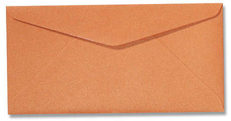 Envelop 11 x 22 cm Metallic Orange Glow