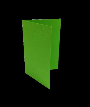 Dubbele kaart staand 7,5 x 11 cm Weidegroen