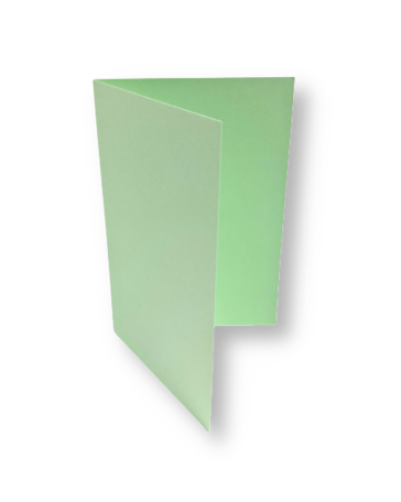 Dubbele kaart staand 7,5 x 11 cm Lentegroen