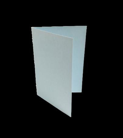 Dubbele kaart staand 7,5 x 11 cm Zachtblauw
