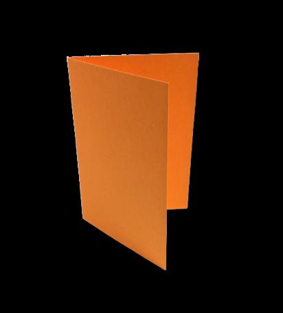 Dubbele kaart staand 7,5 x 11 cm Feloranje