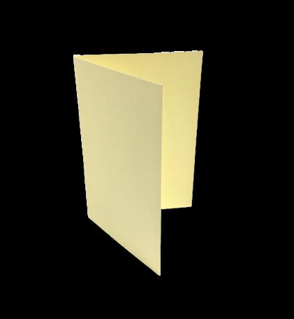 Dubbele kaart staand 7,5 x 11 cm Zachtgeel