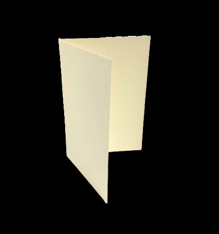 Dubbele kaart staand 7,5 x 11 cm Boomschors Gebroken Wit