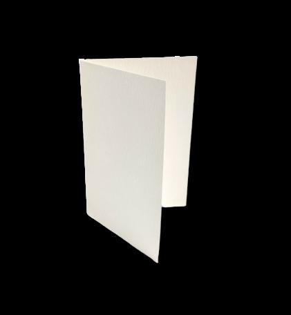 Dubbele kaart staand 7,5 x 11 cm Boomschors Wit