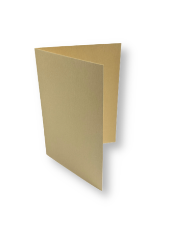 Dubbele kaart staand 7,5 x 10,5 cm Zachtbruin