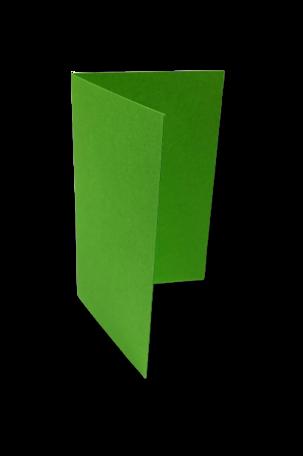 Dubbele kaart staand 6,5 x 10,5 cm Weidegroen