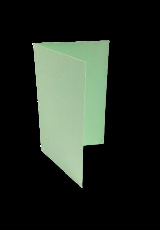 Dubbele kaart staand 6,5 x 10,5 cm Lentegroen