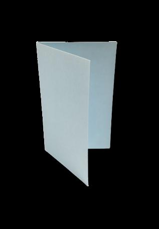 Dubbele kaart staand 6,5 x 10,5 cm Zachtblauw