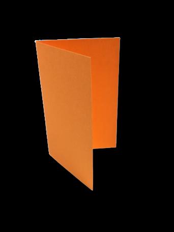 Dubbele kaart staand 6,5 x 10,5 cm Feloranje