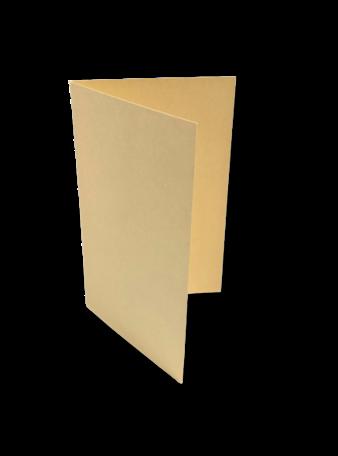 Dubbele kaart staand 6,5 x 10,5 cm Chamois