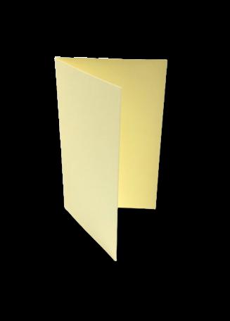 Dubbele kaart staand 6,5 x 10,5 cm Zachtgeel