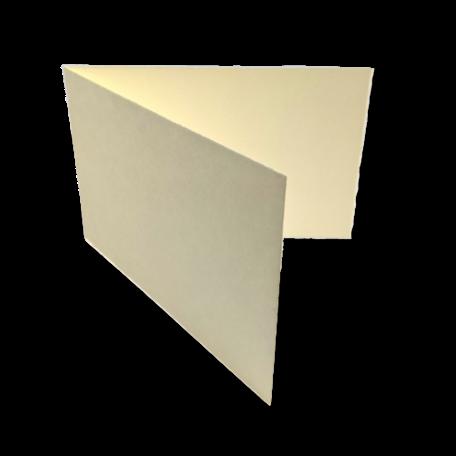 Dubbele kaart liggend 11 x 34 cm Oud Hollands Ivoor per 25 stuks