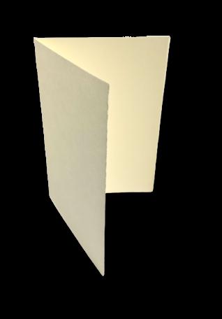 Dubbele kaart staand 17,1 x 23,2 cm Oud Hollands Ivoor per 25 stuks
