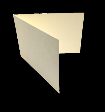 Dubbele kaart liggend 11,6 x 34,2 cm Oud Hollands Ivoor per 25 stuks