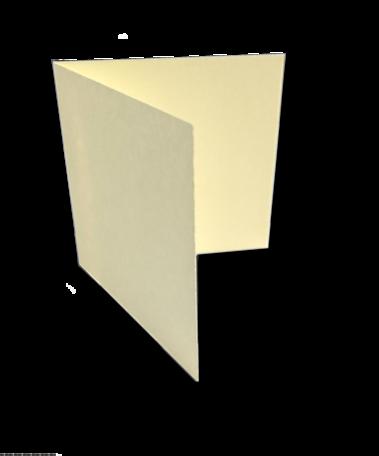 Dubbele kaart liggend 13 x 26 cm Oud Hollands Ivoor per 25 stuks